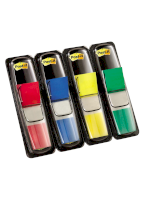 Index - POST-IT® - 4 gekleurde tabs 11,9 x 43,1 mm x 35 vellen per blok