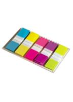 Index - POST-IT® - 5 gekleurde tabs 11,9 x 43,1 mm x 20 vellen per blok