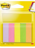 Notes Markers - POST-IT® - 4 gekleurde tabs 11,9 x 43,1 mm x 35 vellen per blok