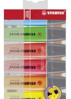Markeerstift - Etui 6 stuks - STABILO BOSS ORIGINAL