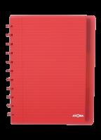 Schrift - geruit - ATOMA A4+ - 6 tabs  - 5 pochetten - 60 vellen