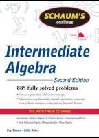 Schaum's Outline of Intermediate Algebra