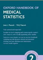 Oxford Handbook of Medical Statistics