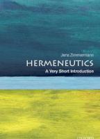 Hermeneutics: A Very Short Introduction