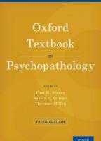 Oxford Textbook of Psychopathology