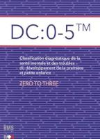 DC: 0-5 TM Classification diagnostique de la santé mentale et des troubles du développement de la première et de la petite enfance