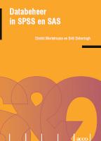 Databeheer met SPSS en SAS (E-book)