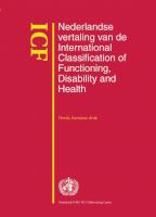 ICF - Nederlandse vertaling van de International Classification of Functioning, Disability and Health