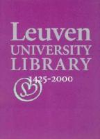 Leuven University Library, 1425-2000