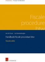 Handboek fiscale procedure btw 2016