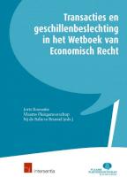 Transacties en geschillenbeslechting in het Wetboek van Economisch Recht