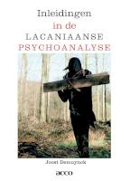 Inleidingen in de lacaniaanse psychoanalyse