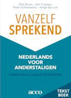 Vanzelfsprekend. Nederlands voor anderstaligen.