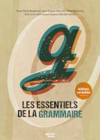 Les essentiels de la grammaire